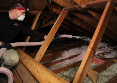 A man doing his work insulation